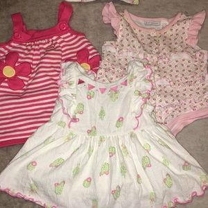 4 Piece lot baby girl 3-6 month summer outfits ❤️